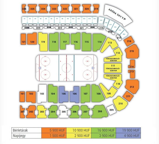 Seating Plan Sports Arena Budapest Ice Hockey World Championship