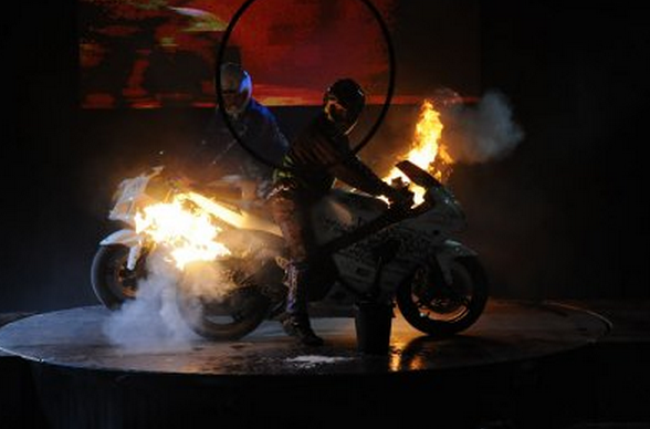 Stunts at International Auto Motor Tuning Show Budapest